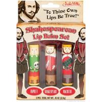 Shakespearean Lip Balm Set