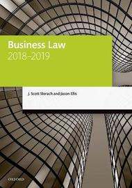 Business Law 2018-2019 by J. Scott Slorach image