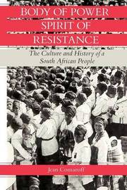 Body of Power, Spirit of Resistance by Jean Comaroff image