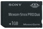 Sony MSXM1GSTX Memory Stick Pro Duo 1GB
