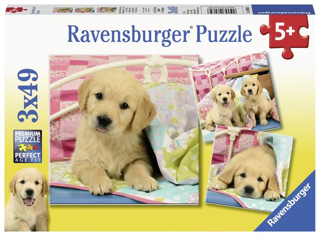 Ravensburger: 3x49 Piece Puzzle Set - Cute Puppy Dogs