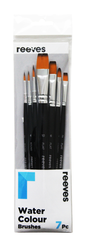 Reeves: Watercolour Brush - Golden Synthetic Short Handle (Pack of 7)