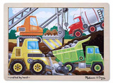 Construction Site Wooden Jigsaw Puzzle - Melissa & Doug
