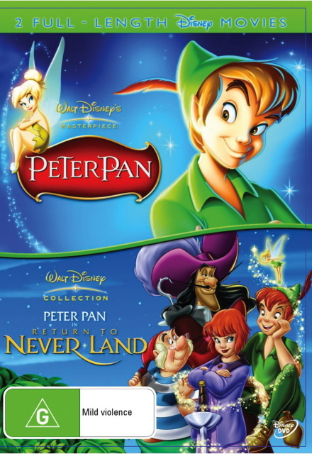 Peter Pan (1953) / Peter Pan In Return To Never Land (2 Disc Set) on DVD