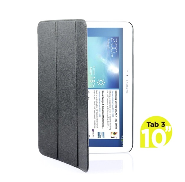 mbeat Samsung Galaxy Tab 3, 10 inch Ultra Slim Triple Fold Case Cover - Black