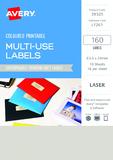 Avery L7261 Multi-Use Labels - Pistachio (10 Sheets/160 Labels)
