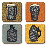 Dedicated Drinkers Coaster Set Of 4