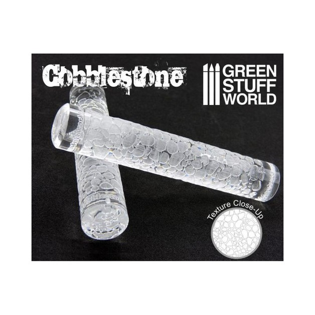 Greenstuff World Texture Rolling Pin: Cobblestone