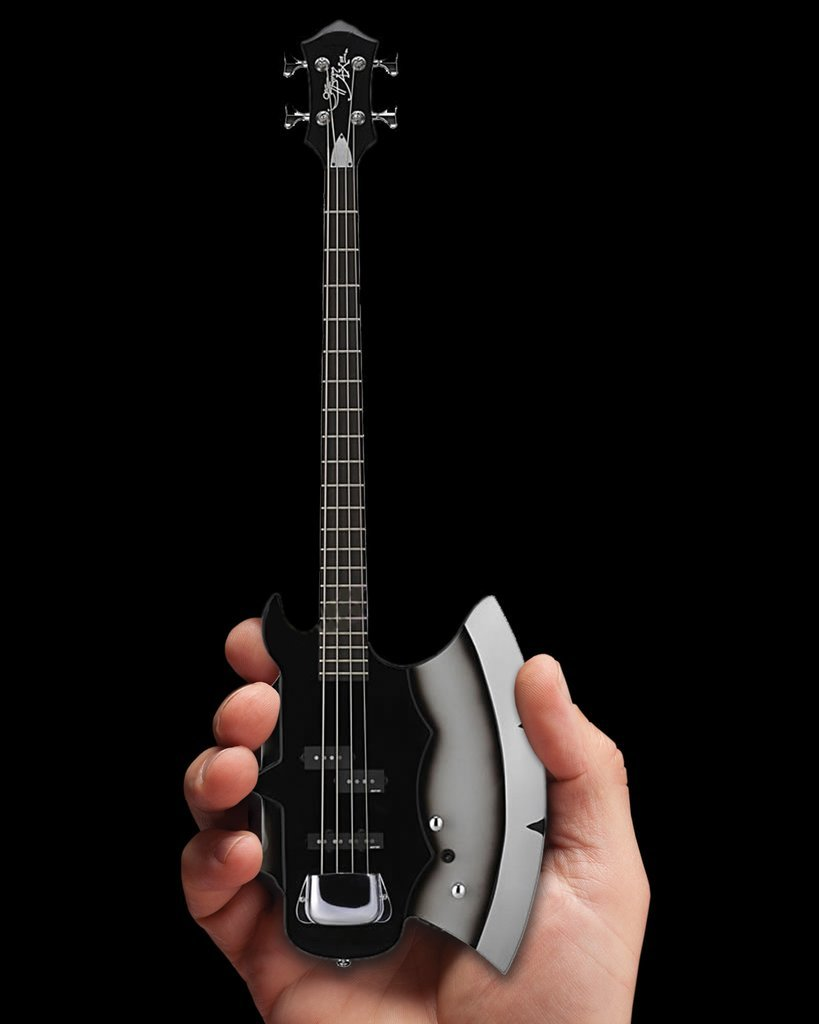 Axe Heaven: Miniature Replica - KISS Gene Simmons Guitar (AXE Base) image