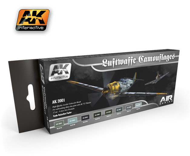 AK-2001 Luftwaffe Camouflage Colours Set