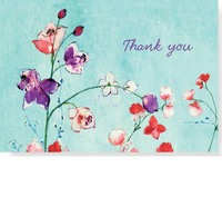 Fuchsia Blooms Thank You Notes (14 Cards/Envelopes)