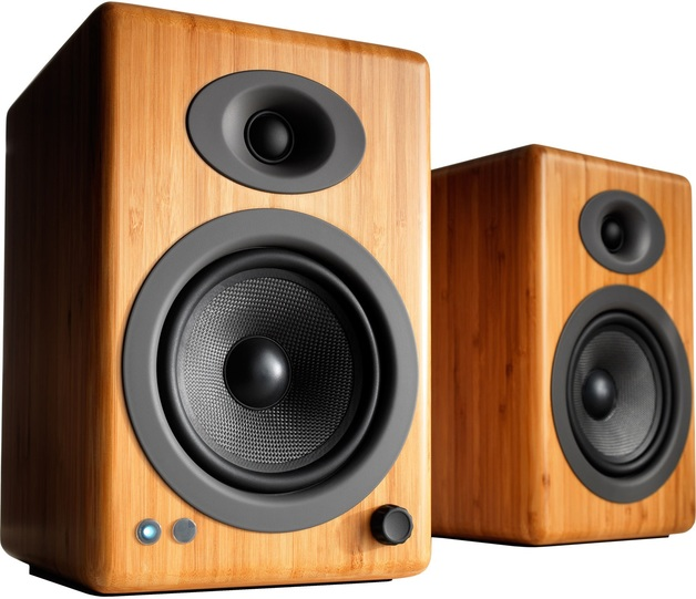 Audioengine 5+ Powered Bookshelf Speakers (Pair) Solid Bamboo