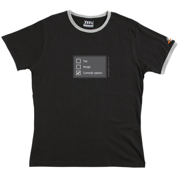 Poll - Ringer Tee (Black) for