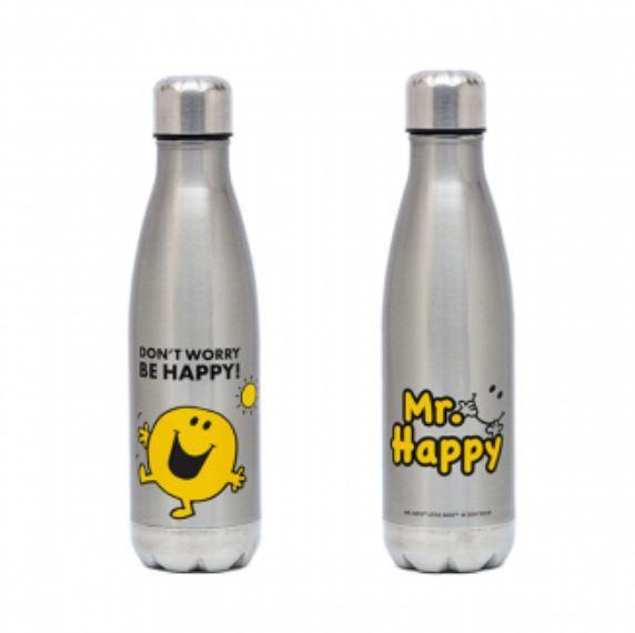 Mr. Men Little Miss: Mr. Happy Stainless Steel Drink Bottle