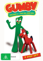 Gumby - Volume 1: The 50s And 60s (4 Disc Set) on DVD
