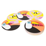 Sunnylife Coasters - Flamingo & Toucan (Set 16)