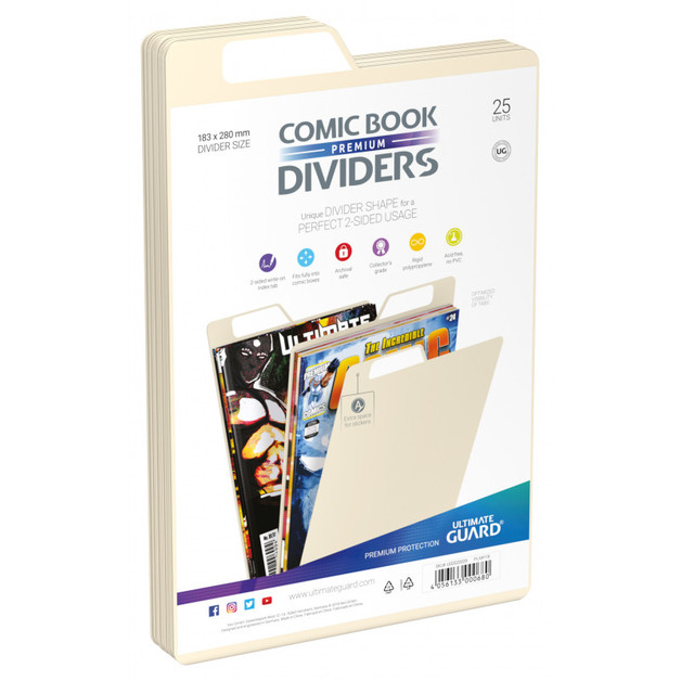 Ultimate Guard: Premium Comic Dividers - Sand (25-Pack)