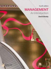 Management: An Introduction by David Boddy image