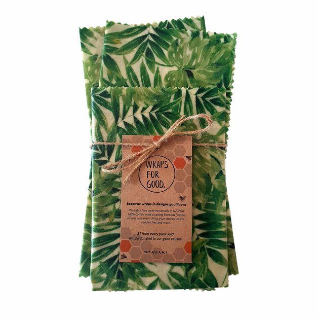 Beeswax Wraps Reusable Food Wrap - Foliage