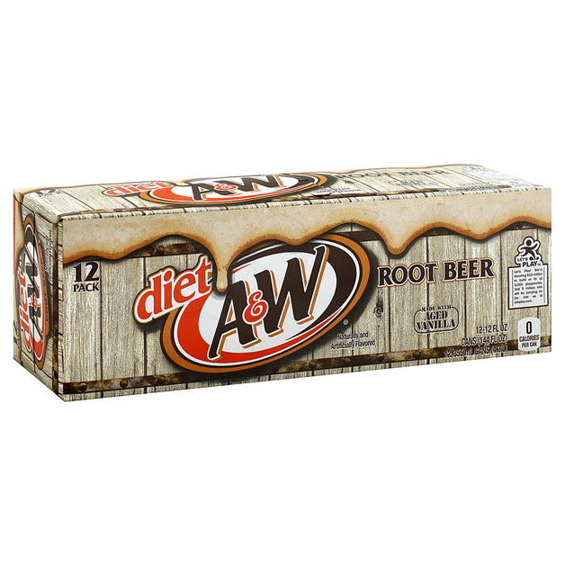 A&W Diet Root Beer Fridge Pack (355ml)