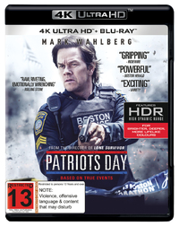 Patriots Day on Blu-ray, UHD Blu-ray