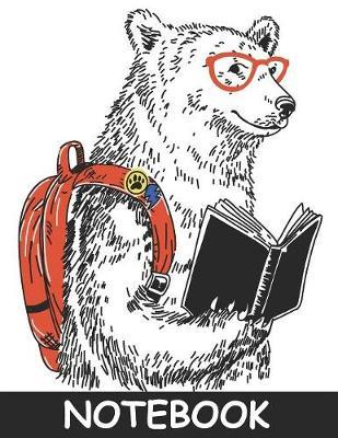 """Back to School Hipster Bear Notebook 8.""""5 x 11"""" by Nlts Publishing"""