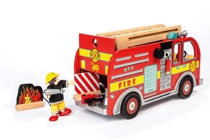 Le Toy Van: Budkins - World Fire Engine Set image