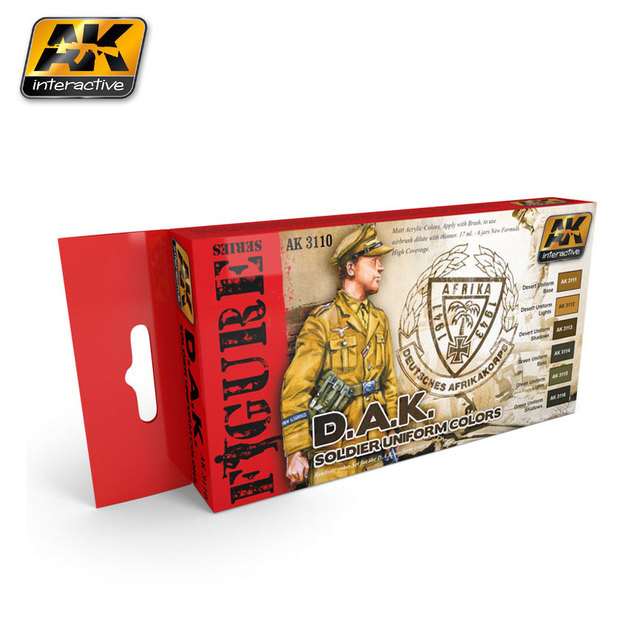 AK D.A.K. Soldier Uniforms Paint Set