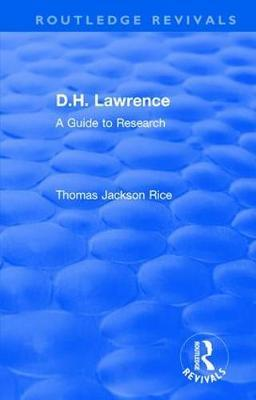 : D.H. Lawrence (1983) by Thomas Jackson Rice
