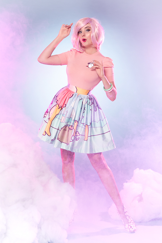 Sarsparilly: Pusheenicorn Midi Skirt - L
