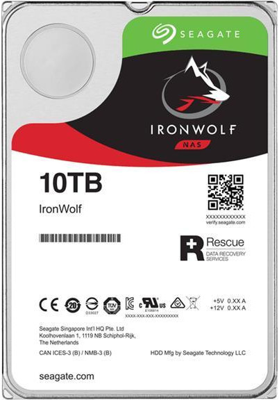 "10TB Seagate IronWolf 3.5"" 7200RPM SATA NAS HDD"