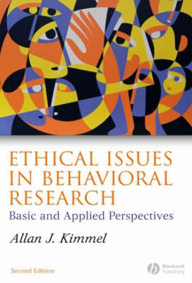 Ethical Issues in Behavioral Research by Allan J. Kimmel image