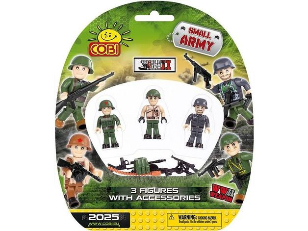 Cobi: World War 2 - Figurine Small Army- 3 pack