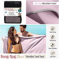 Snug Rug Microfibre Quick Dry Beach Towel - Sea Fog Mauve (Extra Large)