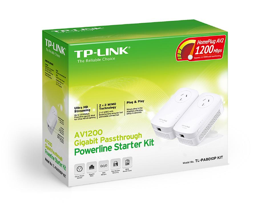 TP-LINK AV1200 Gigabit Passthrough Powerline Starter Kit image