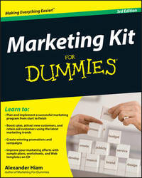 Marketing Kit for Dummies by Alexander Hiam image
