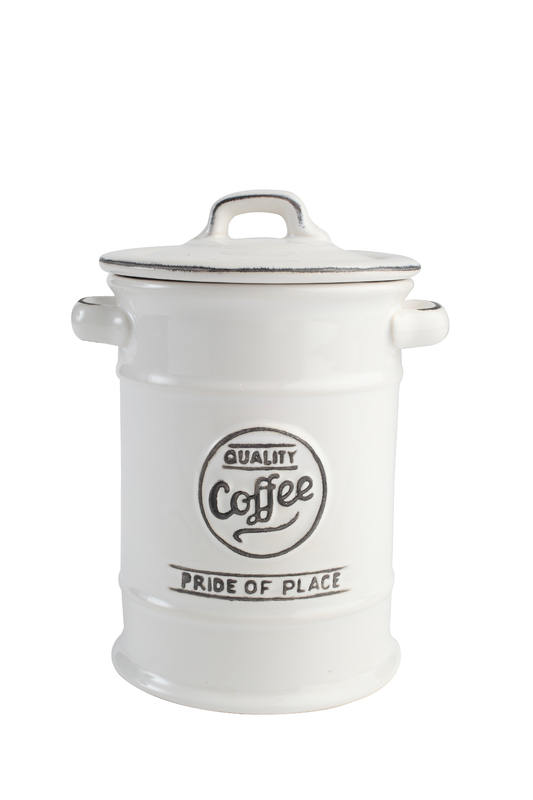 T&G Pride of Place Coffee Jar (White)