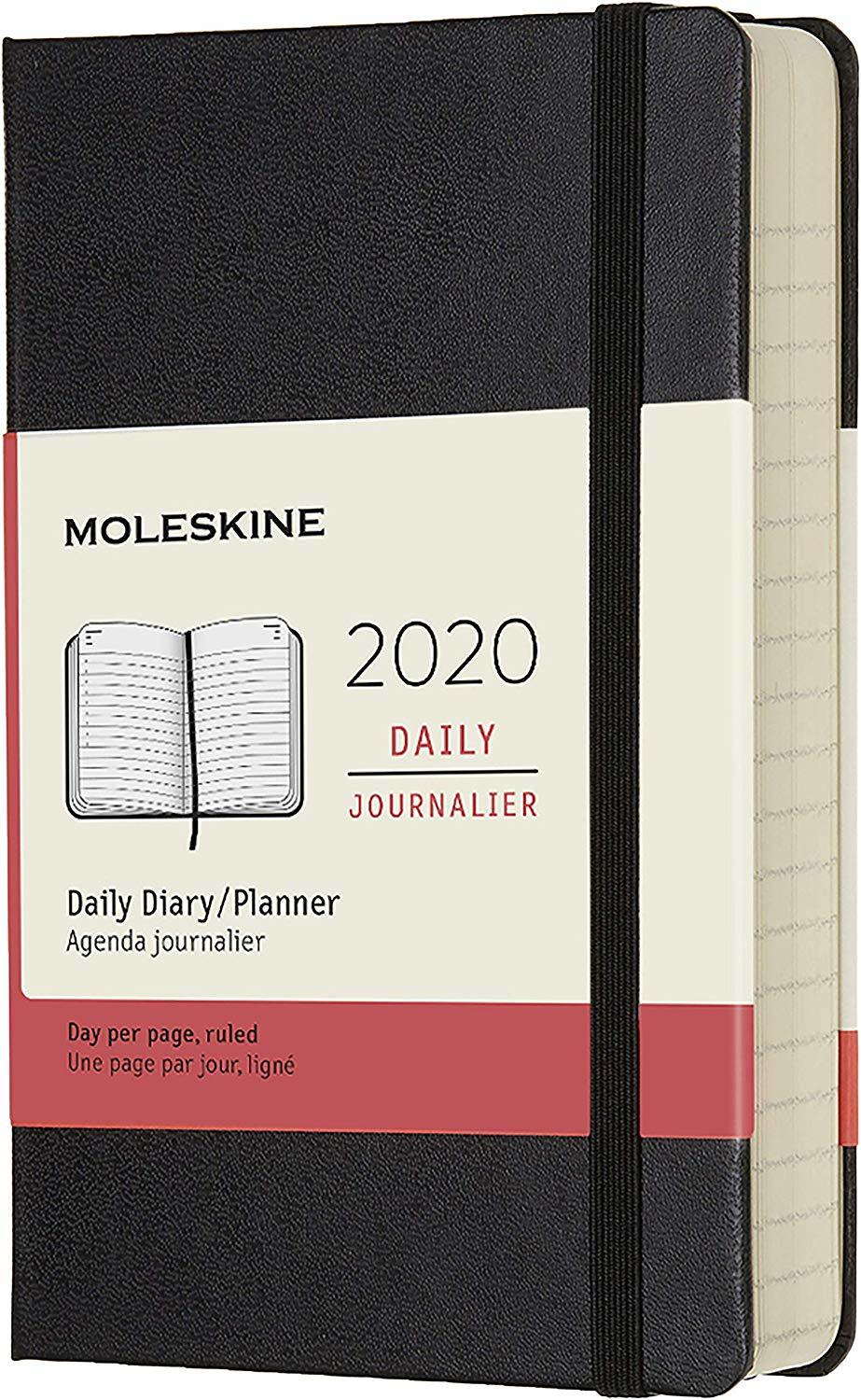 Moleskine: 2020 Diary Pocket Hard Cover 12 Month Daily - Black image