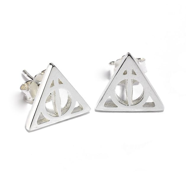 The Carat Shop: Official Sterling Silver Harry Potter Deathly Hallows Stud Earrings