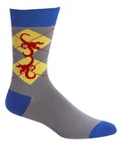 Men's Monkey Argyle Crew Socks