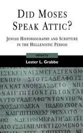 Did Moses Speak Attic? image