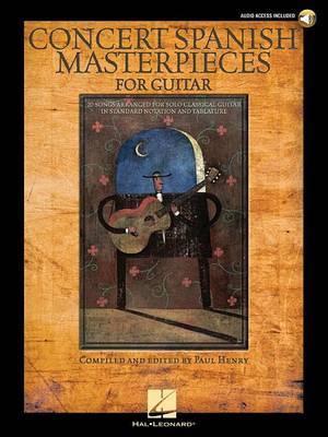Concert Spanish Masterpieces For Guitar (Books/Online Audio)
