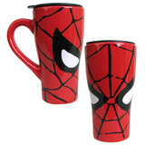 Marvel: Spider-Man Face Ceramic Travel Mug (18 oz.)