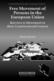 Free Movement of Persons in the European Union by Eleanor Spaventa