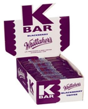 Whittaker's K Bars Bulk Counter Display - Blackberry (24g)