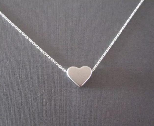 Katy B Jewellery: Mini Heart Necklace - Silver