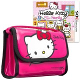 Hello Kitty Happy Happy Family & Bag Pink Bundle for Nintendo 3DS