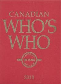 Canadian Who's Who 2010 by University of Toronto Press image