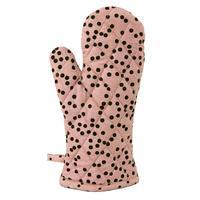 Raine & Humble Oven Mitt Jungle Spots - Flamingo Pink (18X32cm)