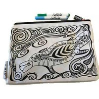 Scribbla: Pencil Case & Fabric Pen Set - Platypus